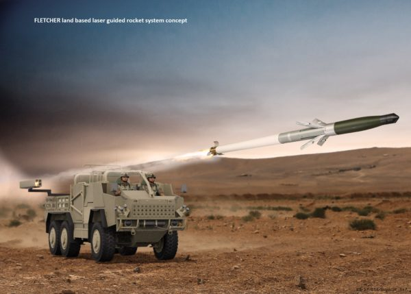 Artist-impression-demonstrating-the-concept-of-the-FLETCHER-land-based-laser-guided-rocket-system
